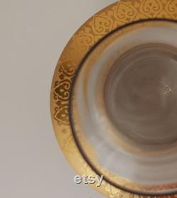 24 K Gold Plated Carved Glass Vase Carafe by Secel Özsoy, Handcraft, Handmade Decoration Vases, Home Gift, Glass Carafe