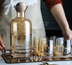 Amber High Borosilicate Glass Carafe Set In Stock