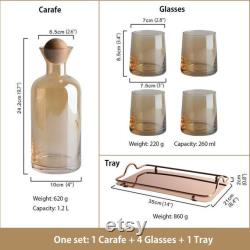 Amber High Borosilicate Nordic Style Carafe Set Available March 15 2021