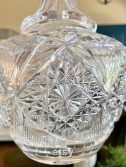 American Brilliant Cut Glass ABP Carafe Decanter TYCAALAK