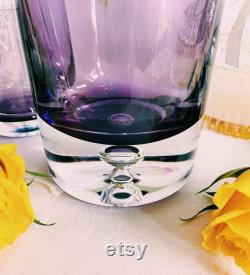 Amethyst Aseda Glasbruk Bo Borgstrom Art Glass Bedside Carafe and Tumbler RARE