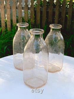 Antique Cherry Hill Spring Water Co. Seltzer Bottle Wooden Crate with 6 Farmdale Dairy Inc. Embossed Milk Bottle Summer Drink Carafes