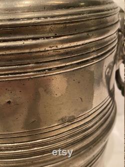 Antique, German Block Zin 1820 Pewter Coffee Urn