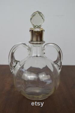 Antique Silver and Glass Carafe