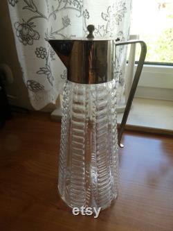 Antique glass carafe, liqueur vessel, around 1900, Art Nouveau