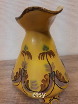 Beautiful water carafe from the 1930-1940s, Egersund stoneware, rare object, collectibles, Norwegian hand painted.
