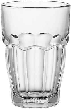 Bormioli Rocco Rock Bar Stackable Beverage Glasses Set Of 6 Dishwasher Safe Drinking Glasses