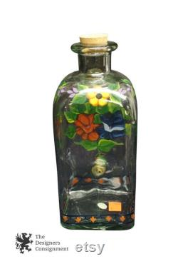 Casafina Hand Blown Painted Glass Cocktail Bar Drink Dispenser Mix Bottle