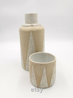 Ceramic Carafe and Beaker