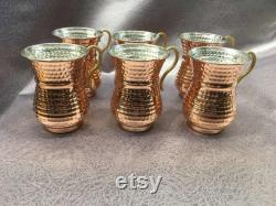 Copper Carafe Set with Glass, Copper Water Pitcher with Copper Glass, Copper Floral Engraving, Special Engraving Copper Juice Carafe Set