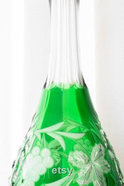 Crystal Carafe in Green Color