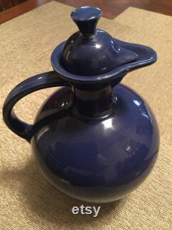 FIesta Fiestaware Carafe with lid stopper cobalt blue Homer Laughlin