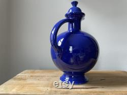 Fiesta Ware Carafe with Cork Lid, Cobalt Blue