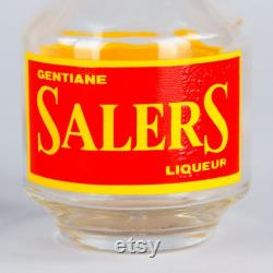 French Glass Carafe Advertising Salers Liqueur