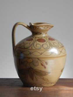 French sandstone jug 22 cm 7.48 in French countryside Ancient terracotta pottery