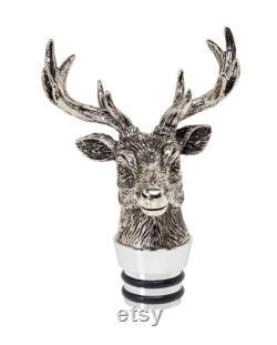 Glass carafe deer H 28 cm