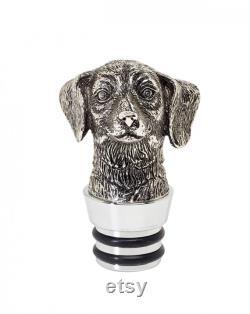 Glass carafe dog H 26 cm