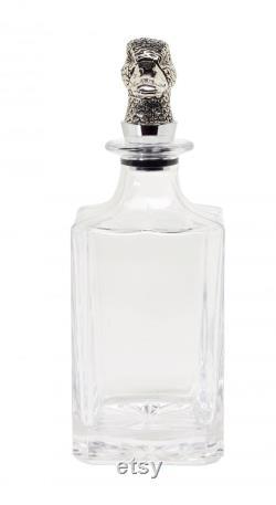 Glass carafe duck H 26 cm