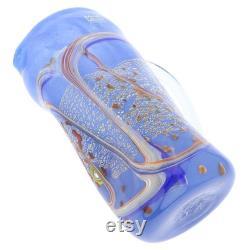 GlassOfVenice Murano Glass Modern Art Carafe Blue
