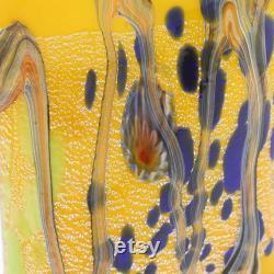GlassOfVenice Murano Glass Modern Art Carafe Yellow