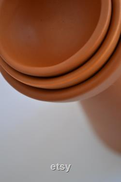 Half-Moon Orange Carafe with Two Cups Mexican Ceramics