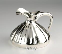 Handcrafted silver plated ancient Anatolian carafe