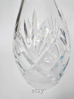 High Art Decé Carafe Crystal 1930's Solid Cut Glass Carafe Crystal Carafe carafe crystal carafe