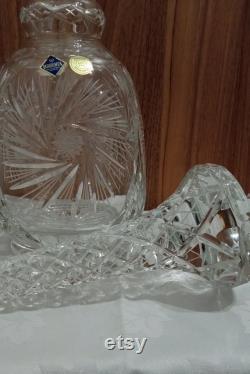 Large Boho Crystal Balustre carafe