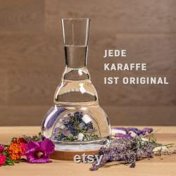Mouth blown Harmonising Carafe from real Czech crystal (1.4l) Lavender and Herbs original gift barware wine decanter water decanter.