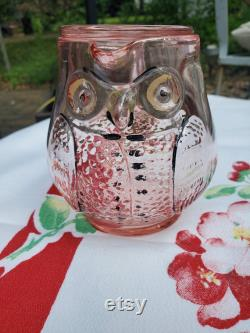 New Martinsville Wise Owl tumble up carafe