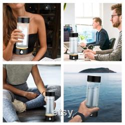 Portable Hydrogen Rich Water Cup USB Rechargeable Ionized Water Generator, Glass Hydrogen Generator Water Bottle Health Cup