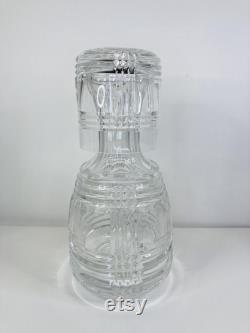 Ralph Lauren Crystal Gen Plaid Bedside Carafe and Glass, Ralph Lauren Crystal, Crystal Bedside Carafe and Glass