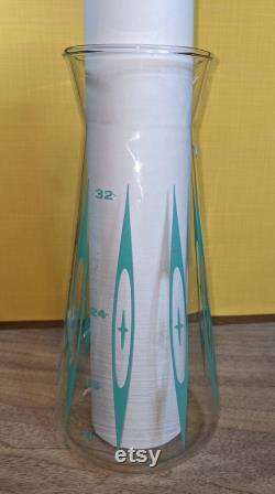 Rare Pyrex Atomic Eyes 32 oz Carafe with lid. Mint condition