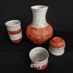 Raw Water Terracotta Carafe Natural Water Cooler Jug White Glaze Terracotta Carafe