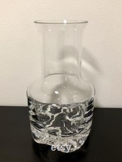 Tapio Wirkkala 'Gaissa' Carafe Finnish Vintage Glass Design From Iittala, Finland