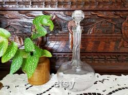 The ancient Ornate claret carafe,Collection lux in crystal. Vintage of the 1950s, rare collection.