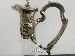 Victorian silver plated decanter wine carafe water picher rich ornated