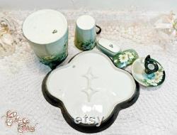 Vienna Austria Porcelain Bedside Vanity Set