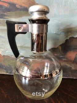 Vintage Art Deco Hand Blown Inland Glass Coffee Carafe Set of 3 Vintage Inland Glass Coffee Carafe Set Vintage Glass Carafe Vintage Carafe