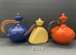 Vintage Bauer Pottery Plain Ware Carafe Coffee Pot Pitcher Cobalt Blue