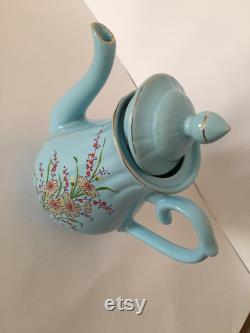 Vintage Carafe-Blue Seramic Carafe Tea,coffee,milk Carafe