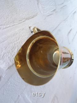 Vintage Carafes, Vintage set of 6 , Brass carafes , Home decor , Wall Display, Interior Design