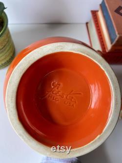 Vintage Fiesta Radioactive Red Orange Carafe with Cork Lid