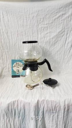 Vintage Glass Silex Cory Vacuum Coffee Maker With Cory Filter Rod Glassware With Original Box