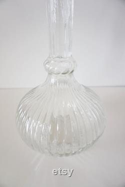Vintage Italian decanter from Empoli transparent Hot air balloon