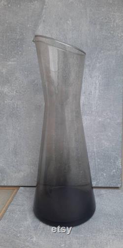Vintage Large Glass Carafe. Finnish Vintage Glass. Nuutajärvi. Probably Design Kaj Franck