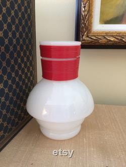 Vintage McKee Hottle Glasbake Coffee Jar Vintage Milk Glass Coffee Carafe 1950s Country Kitchen Decor Fun Vase