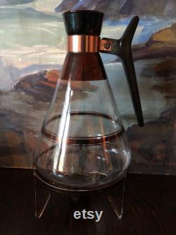Vintage Mid Century Glass Carafe Set Vintage Coffee Teapot Carafes Atomic Glass Carafes Vintage Coffee Carafes Mid Century Glass Carafes