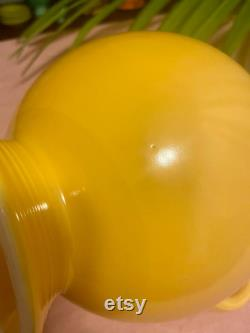 Vintage Yellow Fiestaware Carafe and Lid