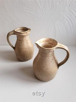 Vintage ceramic pitcher Vernified sandstone sandstone Vintage ceramics Vintage glazed terracotta French Antique pottery 1960